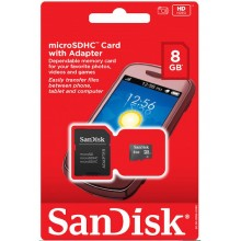 SanDisk microSDHC Card 8 GB With Adapter Best Offer Price in Sharjah UAE