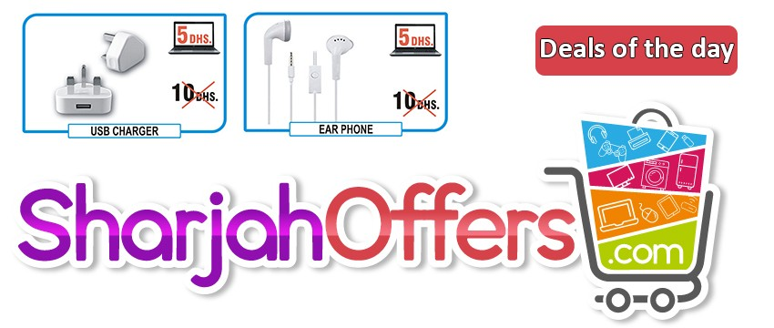 Sharjah Offers Earphone and usb charger